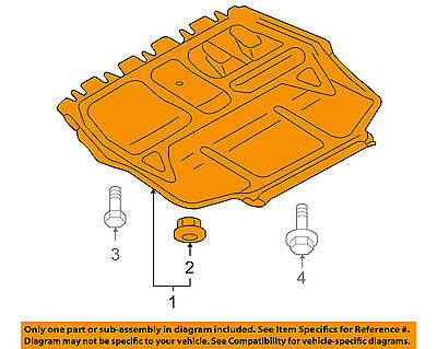 AUDI OEM 06 13 A3 Splash Shield Under EngineRadiator Cover 1K0825235AE