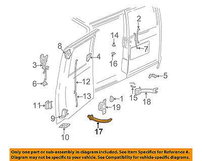 ASTRO VAN SAFARI REAR DOOR STOP DOOR CHECK 1985-2005 NEW OEM GM 15642266