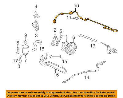 Acura HONDA OEM 01-02 CL-Power Steering Pressure Hose 53713S3MA02