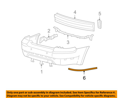 FORD OEM 05-07 Five Hundred-Bumper Trim-Molding Trim Right 5G1Z17C830AAA