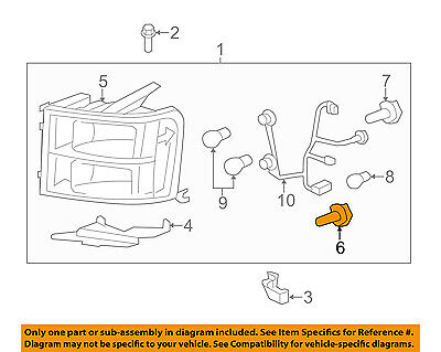 GM OEM-Headlight Headlamp Bulb 13586977
