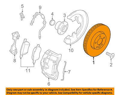 VOLVO OEM 07-15 S80 Front Brake-Disc Rotor 31400764