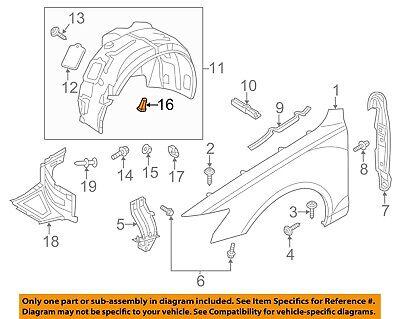 AUDI OEM 09-17 Q5-Fender Liner Retainer Clip 8E0821989A