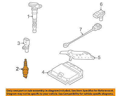 AUDI OEM 07-12 A8 Quattro 4.2L-V8 Ignition-Spark Plug 101905621B