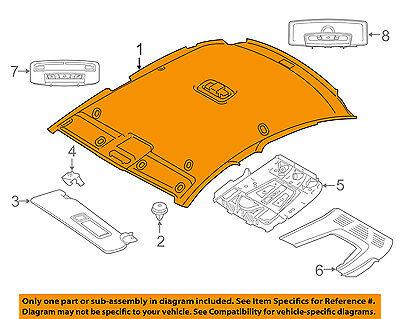 BMW OEM 15-16 428i Gran Coupe Interior-Roof-Headliner 51447377520