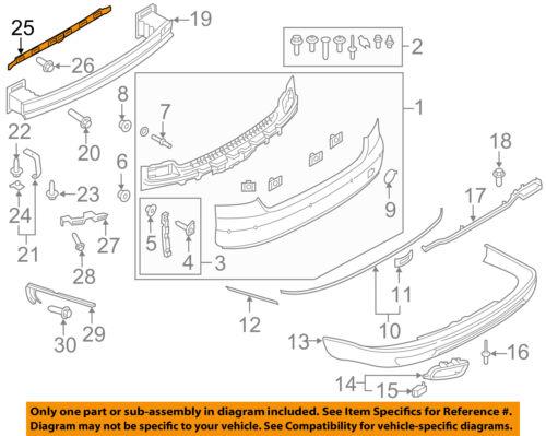 AUDI OEM 15-17 A8 Quattro Rear Bumper-Center Support 4H0807483A