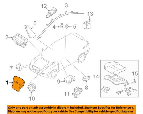 VOLVO OEM 11-15 XC60 Airbag Air Bag-Driver Steering Wheel Inflator 31332825