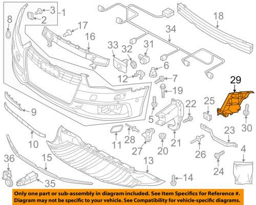 AUDI OEM 12-15 A6 Quattro Front Bumper Grille Grill-Bumper Grille 4G0807683