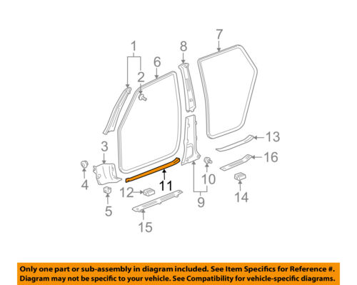 Genuine Passenger Right Rear Door Kick Scuff Plate 769B2-3KA0A