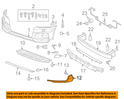 NEW FRONT RIGHT LOWER BUMPER COVER GRILLE FITS 2016-2018 AUDI Q3 AU1039134