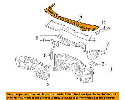 Chevrolet GM OEM Silverado 1500-Cowl Panel Windshield Wiper Motor Cover 23207951