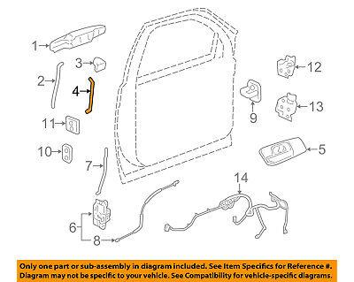 GM OEM Front Door-Lock Cylinder Rod Left 15827501