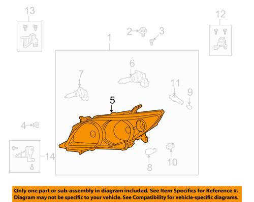 TOYOTA OEM 09-10 Corolla-Headlight-Lens & Housing Right 8113002670
