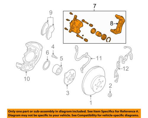 Toyota Oem 01 05 Rav4 Front Disc Brake Caliper Assy 4773042040 Ebay