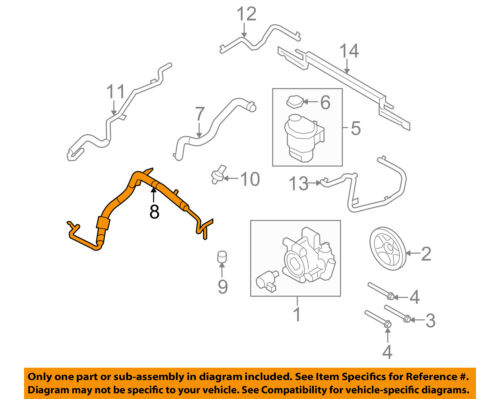 ACDelco 36-367190 Professional Power Steering Pressure Line Hose Assembly 36367190ACM