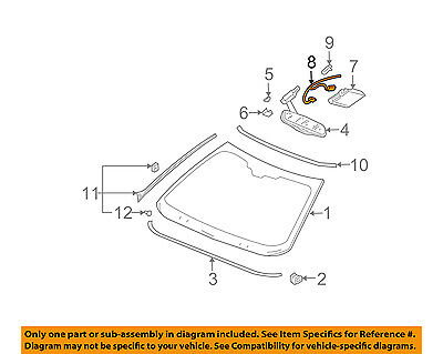 Cadillac GM OEM 01-05 DeVille Windshield-Wire Harness 15374967