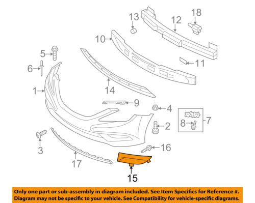 for Hyundai Sonata HY1038110 2011 to 2013 Front, LH Side New Fog Light Cover