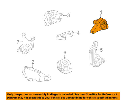 saturn gm oem 08-10 vue-engine motor mount/torque strut 25945707 | ebay  ebay