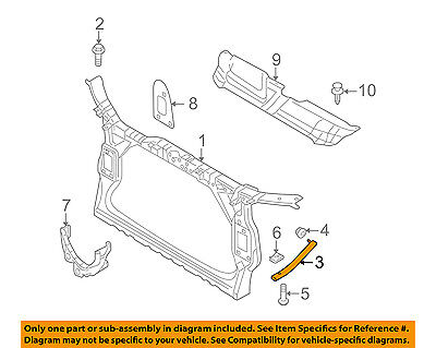 AUDI OEM 08-16 A5 Quattro Radiator Support-Support Right 8K0805528A