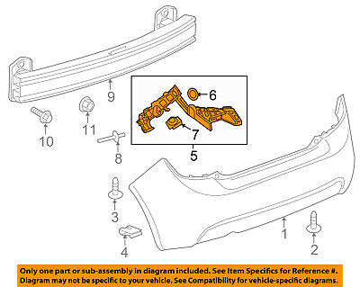 Chevrolet GM OEM 12-18 Sonic Rear Bumper-Outer Support Left 95060302