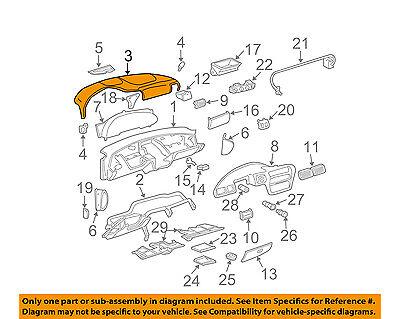 Chevrolet GM OEM 95-97 Cavalier Instrument Panel Dash-Upper Pad 22644688