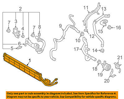AUDI OEM 17 18 A3 Sportback e tron 14L L4 Radiator 3Q0121251B