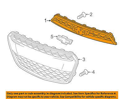 Chevrolet GM OEM 16-18 Spark Front Bumper Grille-Upper Grille 42397433