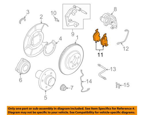2007 bmw 525i brake diagram bmw oem 07 13 x5 brake rear pads 34216768471 ebay  bmw oem 07 13 x5 brake rear pads