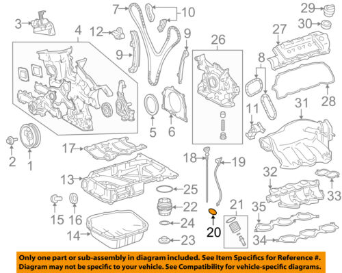 [TVPR_3874]  TOYOTA OEM Engine Parts-Guide Tube O-ring 9672119010 | Toyota Echo Engine Parts Diagram |  | eBay
