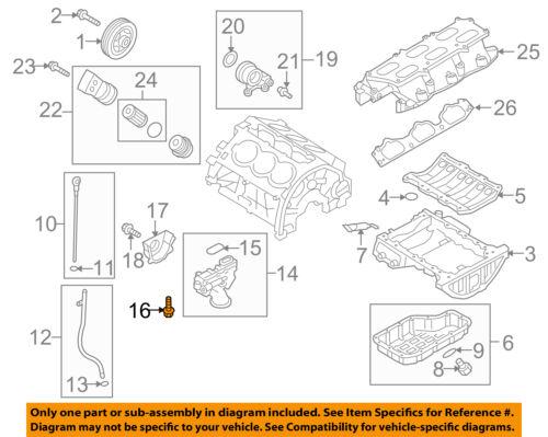 Hyundai OEM 10-15 Genesis Coupe 3.8L-V6 Bomba De Óleo Do Motor-Bolt  1140308406K   eBay   Hyundai 3 8l V6 Engine Diagram      eBay