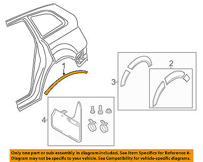 AUDI OEM 07-15 Q7 Fender-Wheel Flare Molding Right 4L0853818BGRU