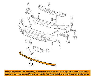 Chevrolet GM OEM Trailblazer Front Bumper-Spoiler Lip Chin Splitter 15008771