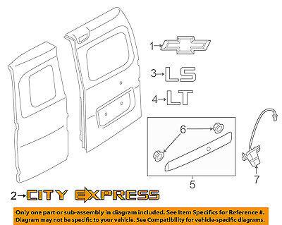 Chevrolet GM OEM 15-18 City Express Back Door-Emblem Badge Nameplate 19317602