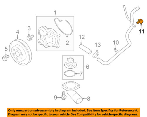 SUBARU OEM 14-16 Forester 2.5L-H4 Water Pump-By-pass Pipe Bolt 808206010