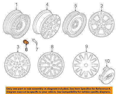 FORD OEM 12-16 Focus Wheels-Wheel Nut CV6Z1012D