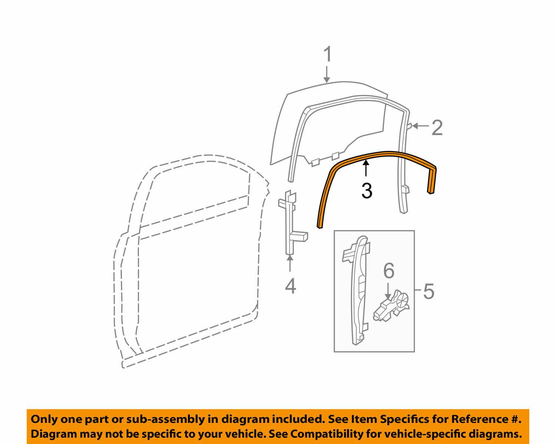 Chevrolet Traverse Door Window Belt Weatherstrip Front Manual Guide