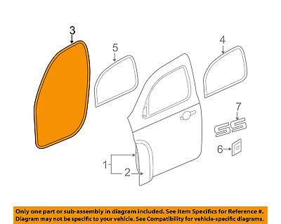 GM 19207495 2006-2011 Chevrolet HHR Front Door-Weatherstrip Seal Left
