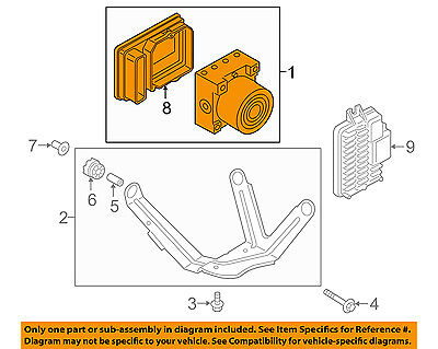 BMW OEM 14-15 i3 ABS Anti-Lock Brake System-Control Module 34516880560