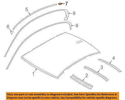BMW OEM 16-18 640i Gran Coupe Roof-Rear Cap Left 51138032689