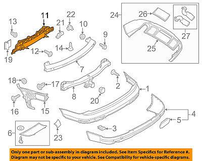 AUDI OEM 07-15 Q7 Rear Bumper-Lower Support 4L0807329