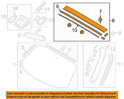 MAZDA OEM 16-18 MX-5 Miata Windshield-Upper Molding N243508X0N