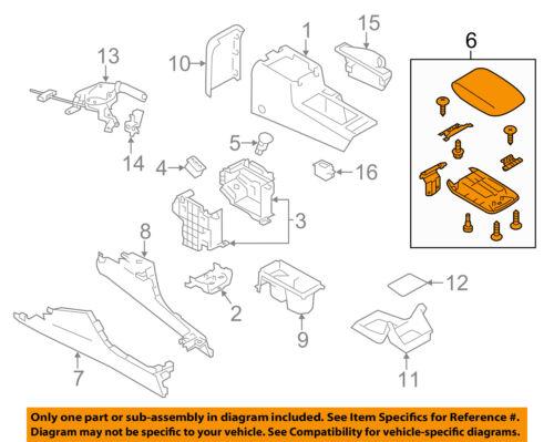 SUBARU OEM 09-14 Impreza Center Console-Lid Cover Top Assy 92114FG000JC