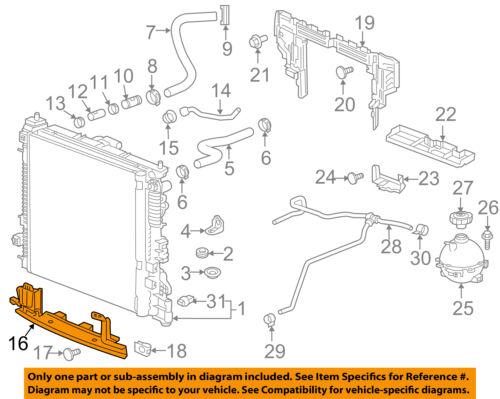 GMC GM OEM 17-18 Acadia 3.6L-V6 Radiator-Lower Baffle 84277886 | eBayeBay