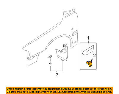 VOLVO OEM 01-09 S60 EXTERIOR TRIM-FENDER-Body Side Molding Clip 9187956