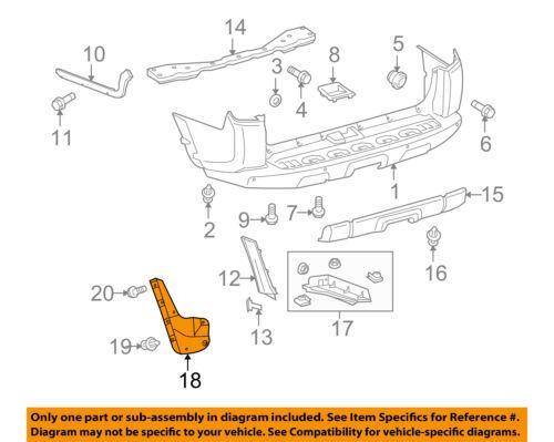 TOYOTA Genuine 76625-19505 Quarter Panel Mudguard Sub Assembly