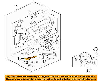 Acura HONDA OEM 91-01 NSX Door-Switch Panel Left 83570SL0A02ZA