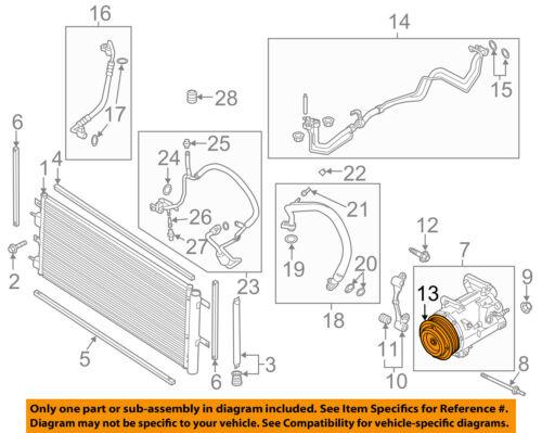 FORD OEM Focus A//C AC Condenser//Compressor//Line-Compressor O-ring W712634S300
