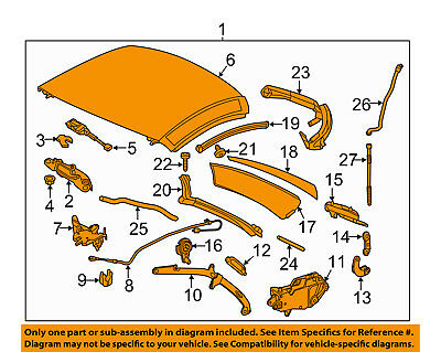 MERCEDES OEM 12-15 SLK250 Retractable Top-Hardtop 17279013409792
