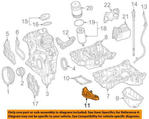 MERCEDES OEM 15-17 E400 3.0L-V6 Engine-Oil Pan Bracket 2760142100