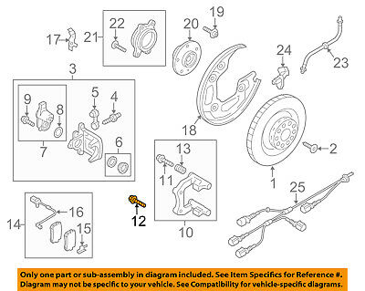 AUDI OEM 09-18 Q5 Brake-Rear-Rotor Screw N10648301